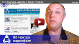 Your Business Website is Never Finished Video Shot